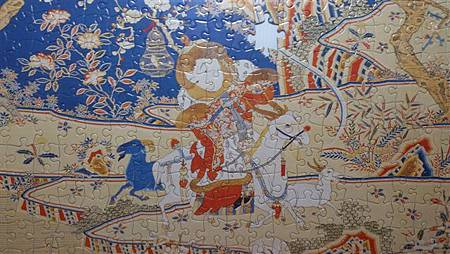 2015.02.04 520pcs Tapestry-Embroidery of Nine Goats Opening the New Year 緙繡九羊啓泰拼圖 (9).jpg