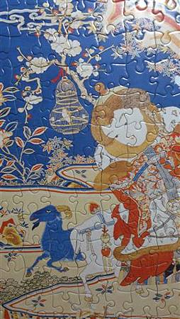 2015.02.04 520pcs Tapestry-Embroidery of Nine Goats Opening the New Year 緙繡九羊啓泰拼圖 (10).jpg