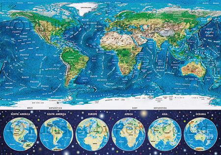 Educa 1000pcs Neon World Map