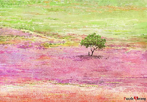 1000pcs 花海中一棵樹