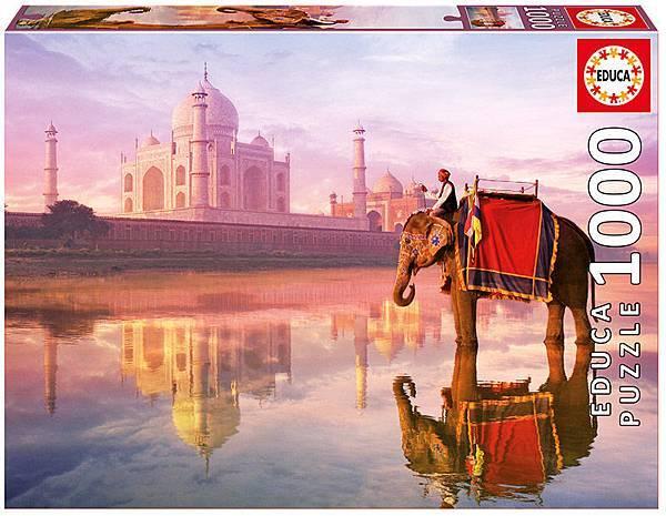1000pcs Elephant at Taj Mahal