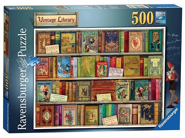 500pcs Vintage Library