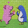2017.12.25 300pcs The Pig Presentend the Penguin with a Pink Present (1).jpg