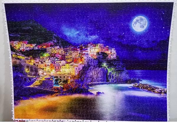 2018.08.16 1200pcs Starrry Night of Cinque Terre, Italy 義大利星空下的五漁村 (1)