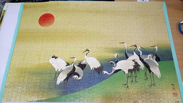 2018.10.13-14 1000pcs 旭日群鶴圖 (3).jpg