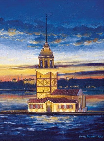 Art 500P Turkey -Maiden's Tower.jpg
