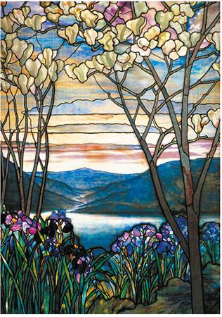 Piatnik 1000P 5520 Magnolien und Iris, Tiffany.jpg