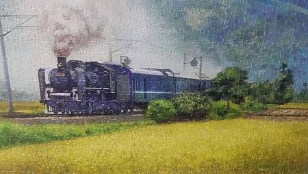 2020.04.23-24 1200pcs A Steam Train Passes Through the Rice Fields 稻香疾馳 (4).jpg