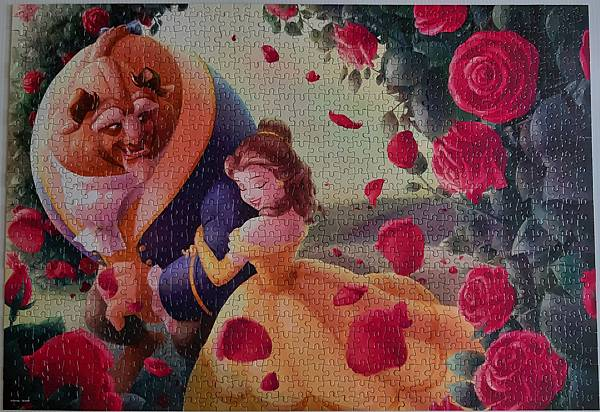 2020.07.10-07.11 1000pcs The Rose of Beauty and the Beast 薔薇小徑(美女與野獸) (2).jpg