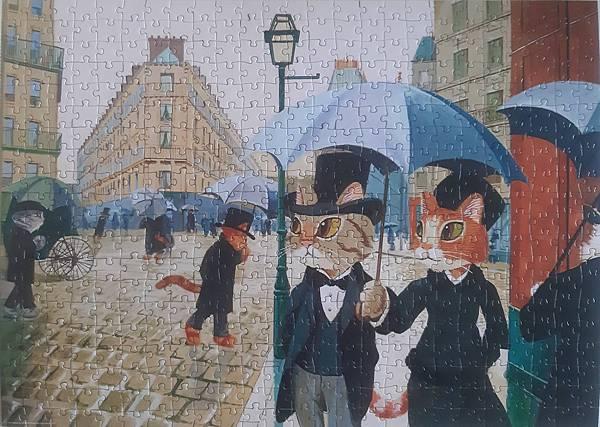 2021.04.21 500pcs Paris Alley, Rainy Day 貓咪討厭濕噠噠 (4).jpg