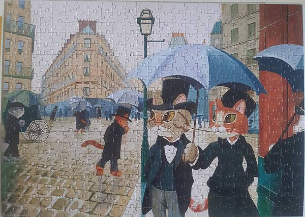 2021.04.21 500pcs Paris Alley, Rainy Day 貓咪討厭濕噠噠 (2).jpg