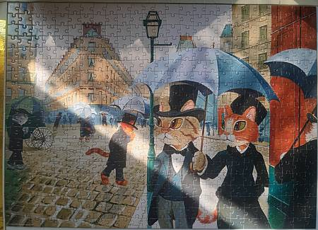 2021.04.21 500pcs Paris Alley, Rainy Day 貓咪討厭濕噠噠 (1).jpg