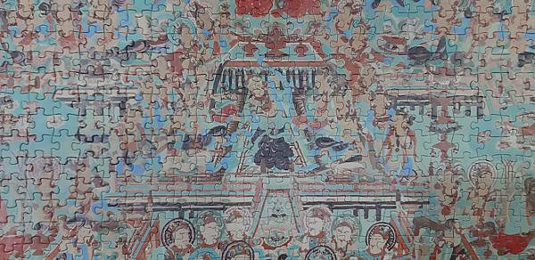 2021.07.07-07.11 1000pcs 璀璨敦煌系列:第12窟-藥師經變 Mogao Grottoes Cave 012  Main Chamber North Wall (4).jpg