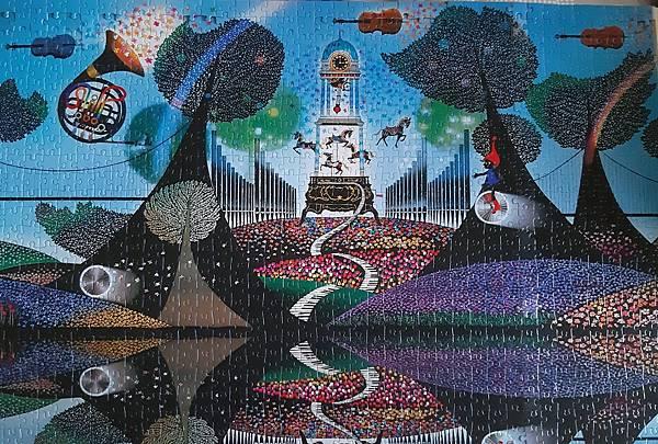 2021.08.25 1000pcs Symphony in the Garden ジグソーパズル 花園のシンフォニー (5).jpg