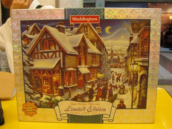 2009.06.25 Waddingtons 1997 Limited Xmas Jigsaw, The night before Christmas, 1000片.JPG
