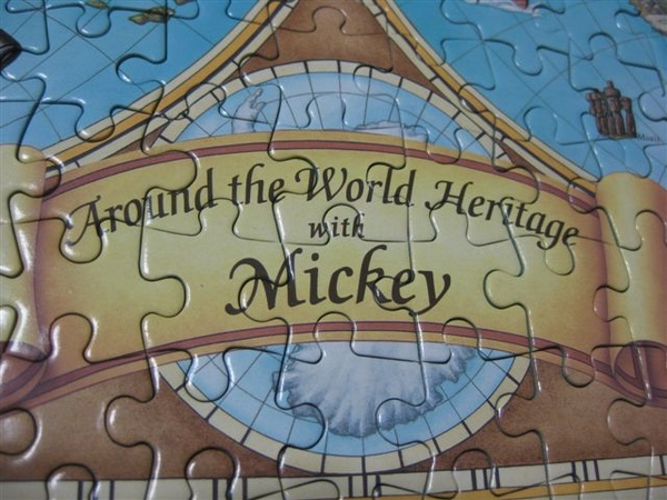 2009.07.17 Around the world heritage with Mickey 300片, 日製Tenyo拼圖 (10).JPG