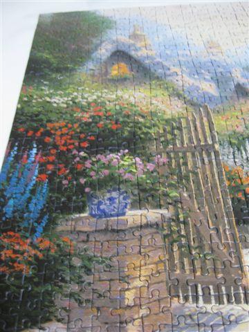2009.07.18 500片Thomas Kinkade油畫~花園小徑 (11).JPG