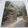 2009.07.18 500片Thomas Kinkade油畫~花園小徑 (9).JPG