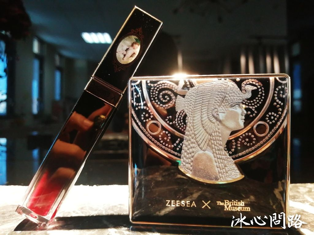 【ZEESEA X大英博物館】琉璃水光唇釉%26;清透絲盈粉餅