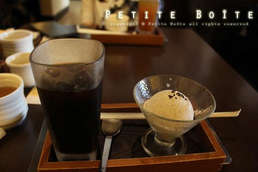 冰咖啡、日式芝麻冰淇淋