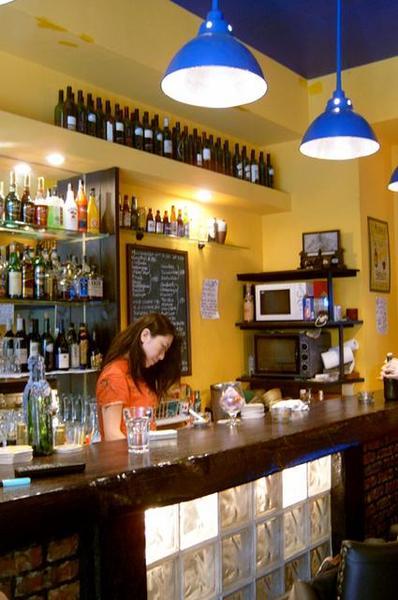 Cathy in bar