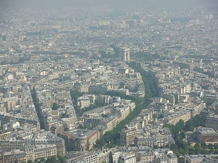 巴黎市景和凱旋門