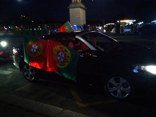 瘋狂的葡萄牙球迷們