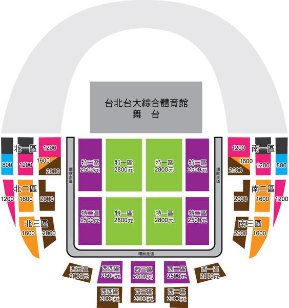 2010陳綺貞台大座位圖