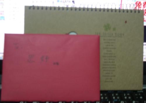 空白筆記本與卡片~