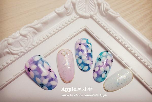 夢幻藍紫色花卉09LS