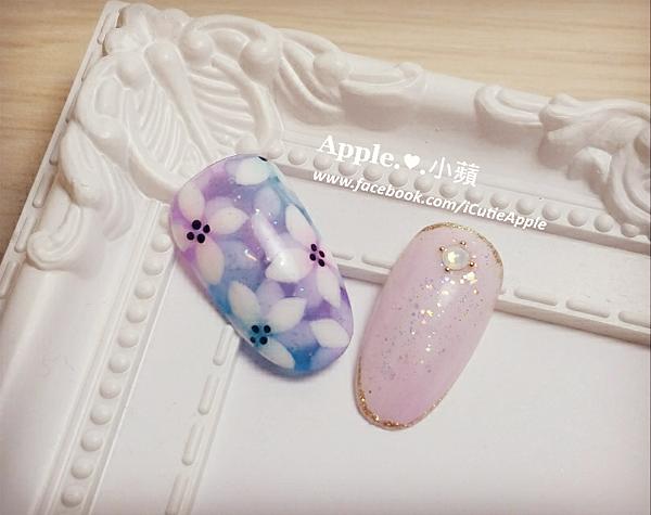 夢幻藍紫色花卉15L