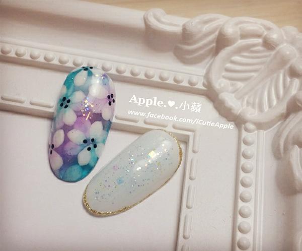 夢幻藍紫色花卉17L