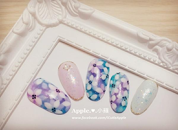 夢幻藍紫色花卉07L