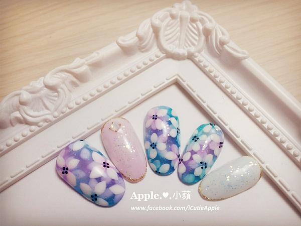 夢幻藍紫色花卉08L