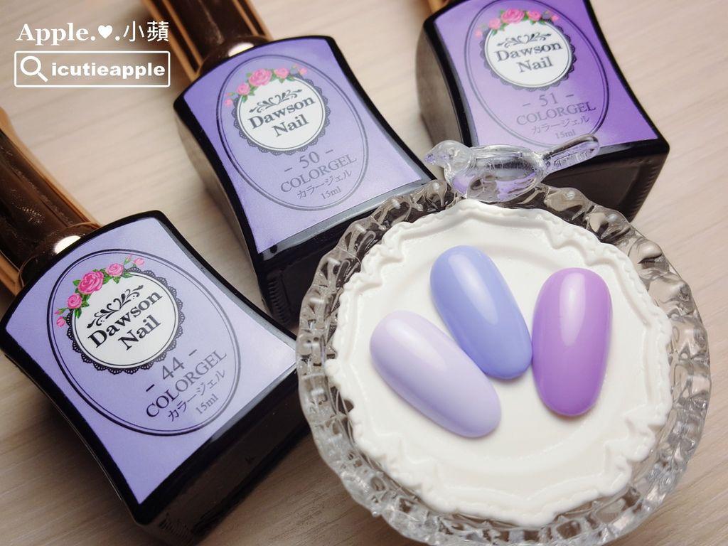 wDN34:放上大森鑽石甲油膠幾個紫色系列的色卡照給大家欣賞,是不是很美、很夢幻^^