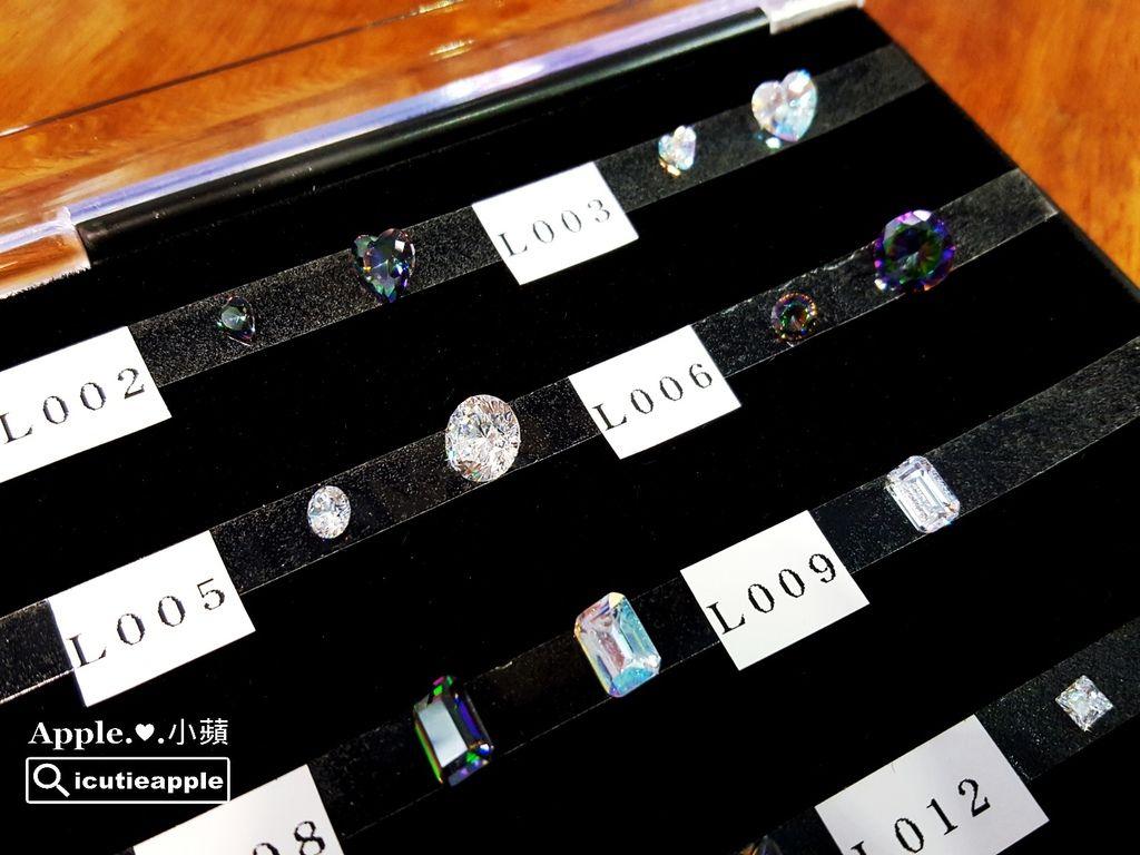 Tiara晶鑽寶石比擬真鑽視覺