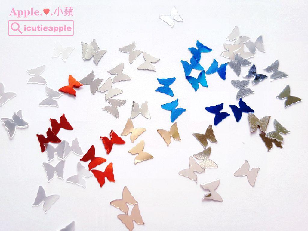 蝴蝶亮片特寫
