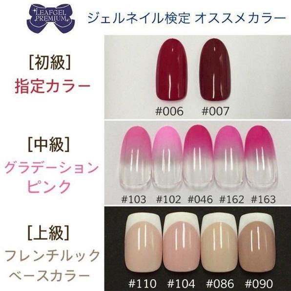 日本JNA凝膠指甲檢定指定的Leafgel用色如上,提供給想準備JNA日檢的朋友們參考^^ (本圖源自日本Leafgel官方網站)