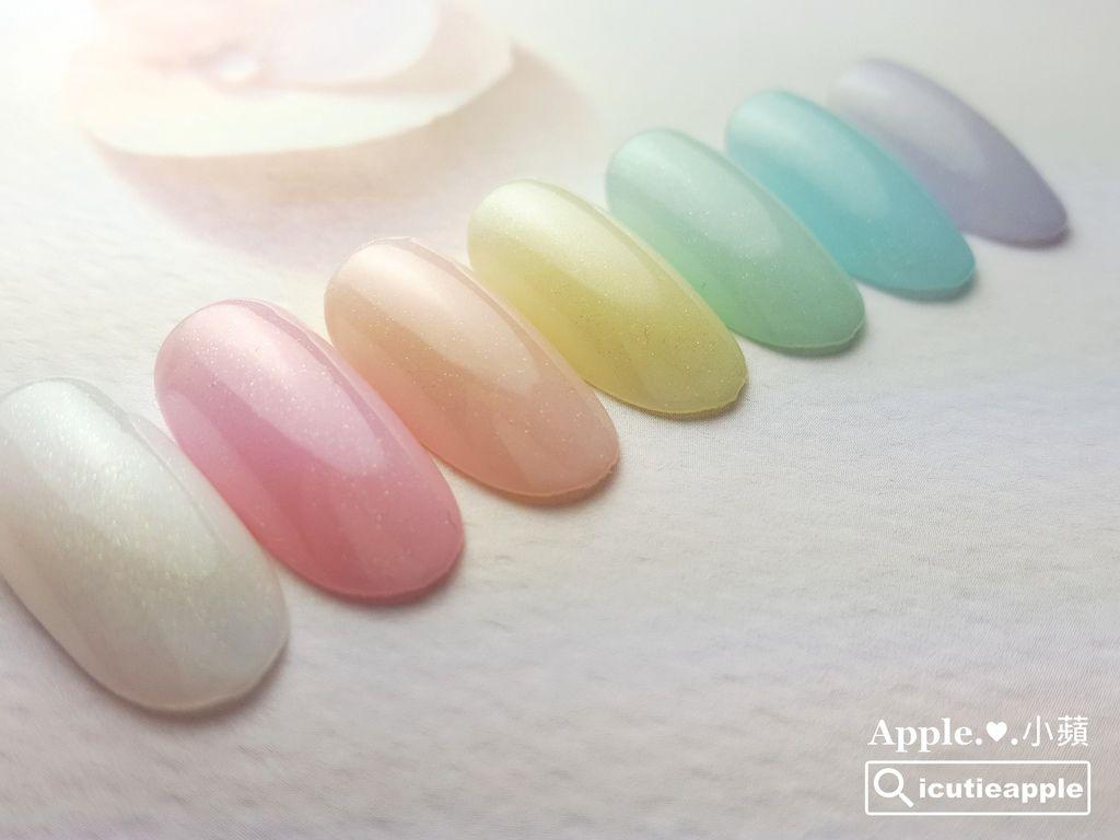 wTS-09:藉由三原色的色彩原理,小蘋把粉紅#174、粉黃#173、粉藍#175這三色,額外又變出了3個新的顏色,分別是粉橘、粉綠、粉紫。