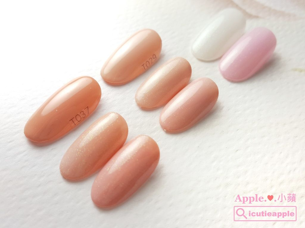 wTS-18:Tiara #039、#037這兩個是很漂亮的粉膚色,分別被Tiara春季新色#172(白)、#174(粉紅)疊擦後,微微閃亮,讓原本的粉膚色顯得更有氣質了^^