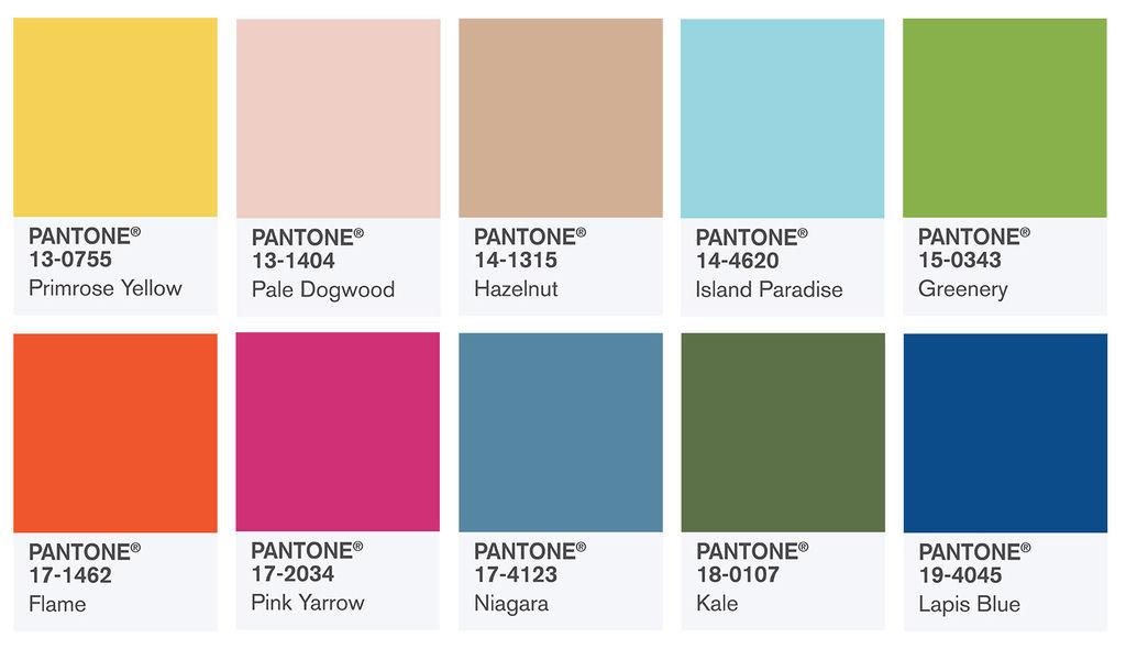 2017-1:Pantone 2017年度的十大色彩。