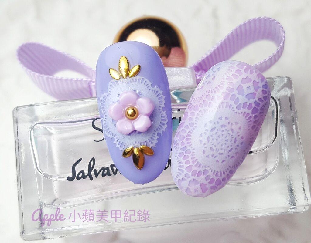 Love-56-01-01-01:小蘋另外製作不同的蕾絲花紋給大家參考喲~夢幻粉紫蕾絲真的好有浪漫氣息~