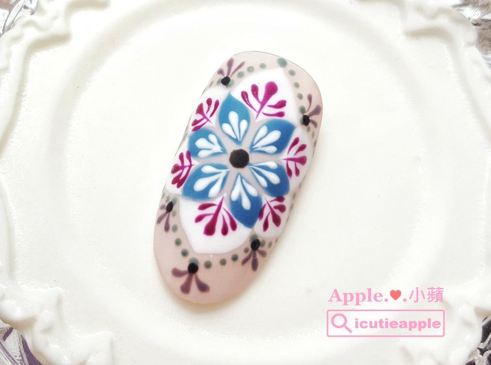 wLove-64-01-01:全新日本製造Love Dawson罐裝彩膠挑戰極細緻花磚彩繪設計成功!飽和度及漂亮的發色度測試OK!