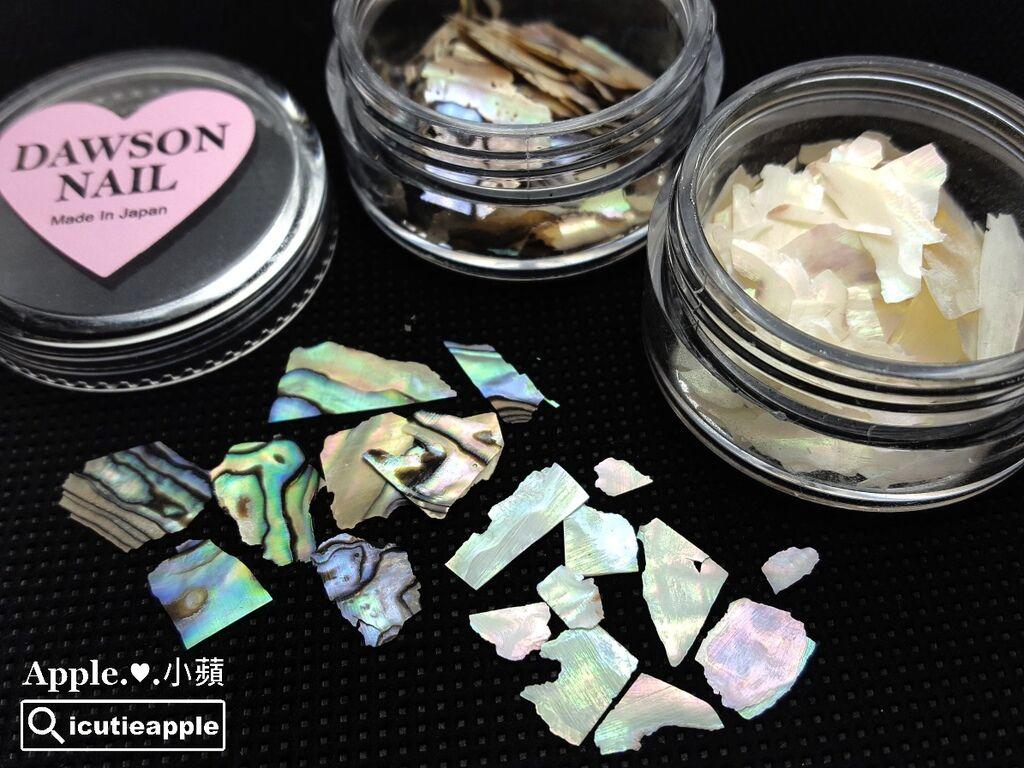 wPuffs-64-01:接著,使用今(2017)年9月秋季美展首賣的限量超質感大森Love Dawson系列貝殼片,極薄的天然光澤貝殼片,預料是美展第一天開賣就會被秒殺的限定商品,因為實在太美了^^