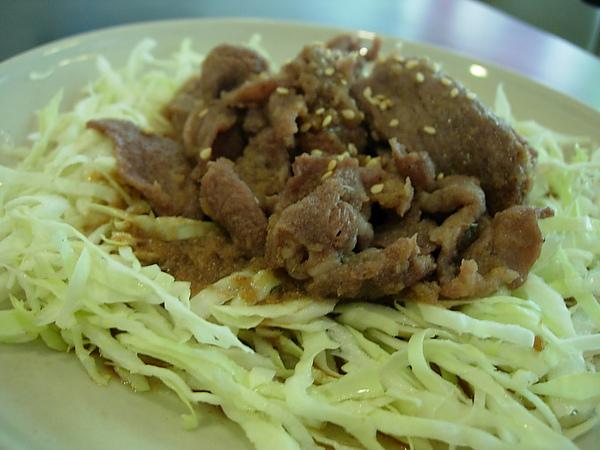 薑汁肉片(主菜)