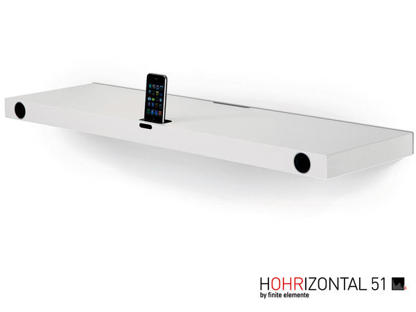 3) HOHRIZONTAL 51 Wall Shelf with integrated iPod Sound System by finite elemente.jpg