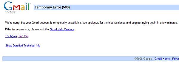 gmail down again