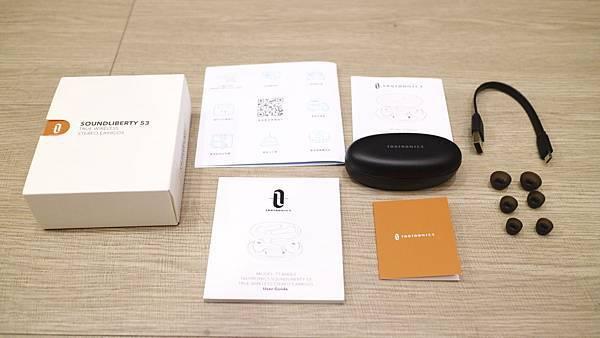 Taotronics TT-BH053真無線藍牙耳機全部配件.JPG