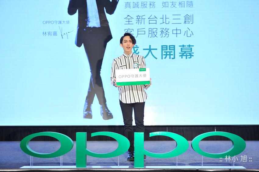 OPPO守護大使 林宥嘉把手機當「寵兒」,出席OPPO客戶服務中心開幕記者會分享護「機」四撇步。