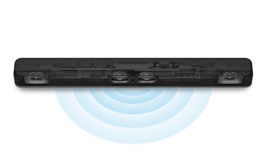 圖4) Sony HT-X8500單件式喇叭僅需透過機身前置喇叭,搭配超廣域環繞音場技術S-Force PRO,即可模擬7.1.2聲道的立體環繞聲場。.png